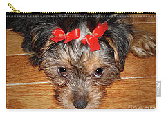 Silky Terrier Puppy Face Carry-all Pouch