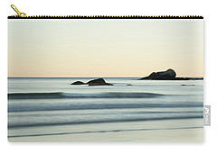 Silky Water And Rocks On The Rhode Island Coast Carry-all Pouch by Nancy De Flon