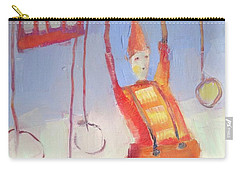 Carry-all Pouch featuring the painting Silly Clown by Michelle Abrams