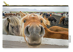 Silly Icelandic Horse Carry-all Pouch