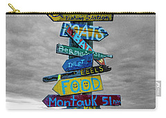 Silly Lily Fishing Station Sign Carry-all Pouch