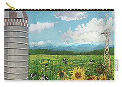 Silo Farm Carry-all Pouch by Bonnie Siracusa