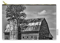 Silo Tree Black And White Carry-all Pouch