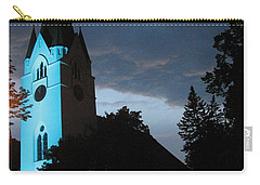 Carry-all Pouch featuring the photograph Silute Lutheran Evangelic Church Lithuania by Ausra Huntington nee Paulauskaite