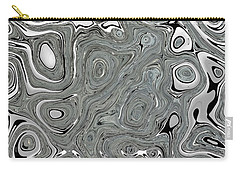 Silver Abstract Carry-all Pouch