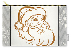 Silver And Gold Santa Carry-all Pouch