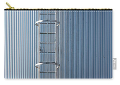 Silver Blue Silo With Steel Ladder. Carry-all Pouch