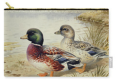 Silver Call Ducks Carry-all Pouch by Carl Donner