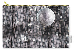 Carry-all Pouch featuring the photograph Silver Christmas by Ulrich Schade