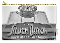 Silver Diner Bw Carry-all Pouch by John S