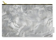 Silver Gray Abstract Minimalist Painting  Carry-all Pouch