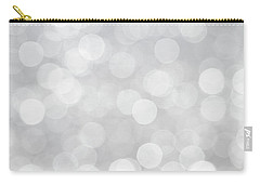 Silver Grey Bokeh Abstract Carry-all Pouch by Peggy Collins