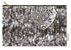Carry-all Pouch featuring the photograph Silver Heart by Ulrich Schade