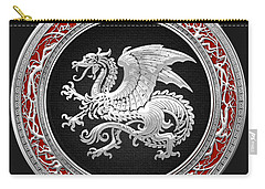 Silver Icelandic Dragon  Carry-all Pouch