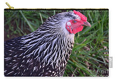 Carry-all Pouch featuring the photograph Silver Laced Wyandotte by Mark McReynolds