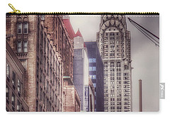 Carry-all Pouch featuring the photograph Silver Majesty - Chrysler Building New York by Miriam Danar