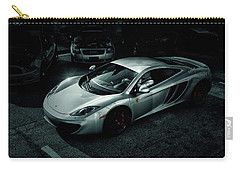 Carry-all Pouch featuring the photograph Silver Mclaren by Joel Witmeyer