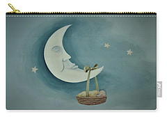 Silver Moon With Picnic Basket Carry-all Pouch