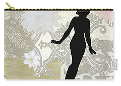 Silver Paper Doll Carry-all Pouch
