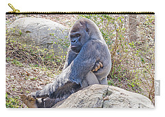 Carry-all Pouch featuring the photograph Silverback Gorilla  by Donna Brown