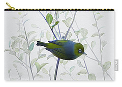 Carry-all Pouch featuring the painting Silvereye by Ivana Westin