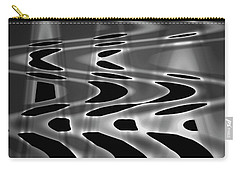 Silvery Abstraction Bw  Carry-all Pouch