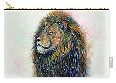Carry-all Pouch featuring the painting Simba by Zaira Dzhaubaeva