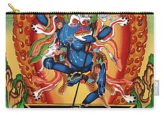 Simhamukha - Lion Face Dakini Carry-all Pouch by Sergey Noskov