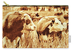 Simmental Bull 3 Carry-all Pouch by Larry Campbell