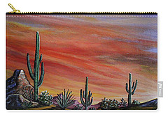 Simple Desert Sunset One Carry-all Pouch