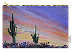 Simple Desert Sunset Three Carry-all Pouch