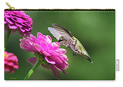 Carry-all Pouch featuring the photograph Simple Pleasure Hummingbird Delight by Christina Rollo