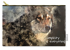 Simplicity Is Everything -light Carry-all Pouch