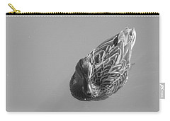Carry-all Pouch featuring the photograph Simply Duck by Esther Newman-Cohen