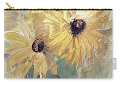 Carry-all Pouch featuring the painting Simply Sunflowers  by Robin Maria Pedrero