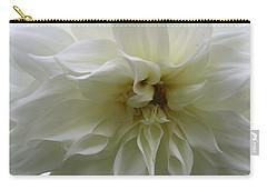 Simply White - Dahlia Carry-all Pouch by Dora Sofia Caputo Photographic Art and Design