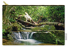 Carry-all Pouch featuring the photograph Sims Creek Waterfall by Meta Gatschenberger
