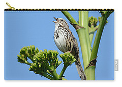 Carry-all Pouch featuring the photograph Sing A Song by Fraida Gutovich