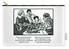 Sing A Song Of Sixpence Nursery Rhyme Carry-all Pouch by Marian Cates