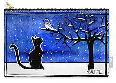 Sing For Me - Black Cat Card Carry-all Pouch