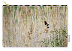 Carry-all Pouch featuring the photograph Sing For Spring Square by Bill Wakeley