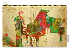 Carry-all Pouch featuring the digital art Sing It Baby One More Time by Nikki Smith