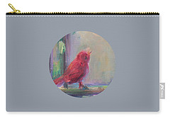 Carry-all Pouch featuring the painting Sing Little Bird by Mary Wolf