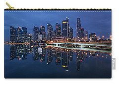 Singapore Skyline Reflection Carry-all Pouch