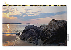 Singing Beach Rocky Sunrise Manchester By The Sea Ma Carry-all Pouch