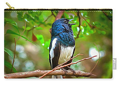 Singing Ceylonese Robin-magpie Carry-all Pouch