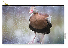 Carry-all Pouch featuring the photograph Singing In The Rain by Cindy Lark Hartman