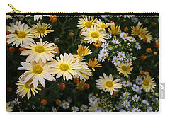 Carry-all Pouch featuring the photograph Single Chrysanthemums by Kathryn Meyer