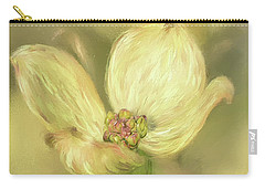 Carry-all Pouch featuring the digital art Single Dogwood Blossom In Evening Light by Lois Bryan