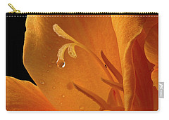 Carry-all Pouch featuring the photograph Single Drop by Jean Noren